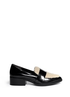 3.1 PHILLIP LIM 'Quinn' shearling vamp leather loafers