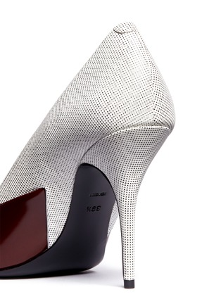 Detail View - Click To Enlarge - Alexander Wang  - 'Cicely' textured leather colourblock pumps