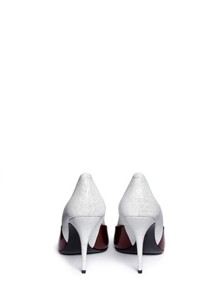 Back View - Click To Enlarge - Alexander Wang  - 'Cicely' textured leather colourblock pumps