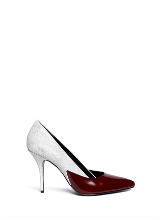 Main View - Click To Enlarge - Alexander Wang  - 'Cicely' textured leather colourblock pumps