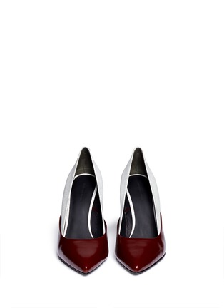 Figure View - Click To Enlarge - Alexander Wang  - 'Cicely' textured leather colourblock pumps