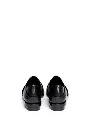 Back View - Click To Enlarge - Alexander Wang  - 'Morgan' criss cross leather slip-ons