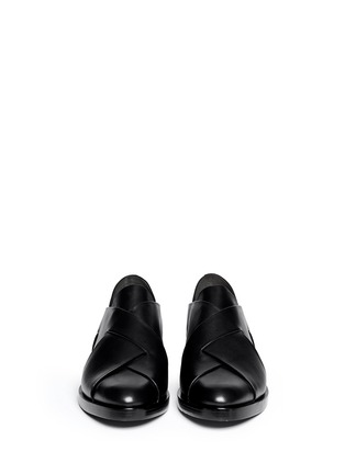 Figure View - Click To Enlarge - Alexander Wang  - 'Morgan' criss cross leather slip-ons