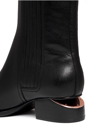 Detail View - Click To Enlarge - Alexander Wang  - 'Anouck' cutout heel leather Chelsea boots