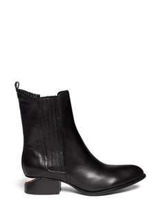 ALEXANDER WANG  'Anouck' cut-out heel leather Chelsea boots