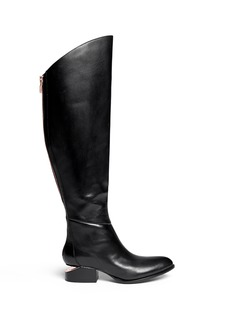 ALEXANDER WANG  'Sigrid' cut-out heel leather boots