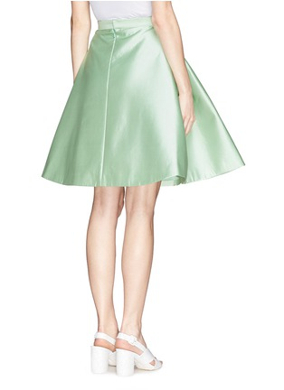 Back View - Click To Enlarge - Chictopia - Pleat flare silk skirt