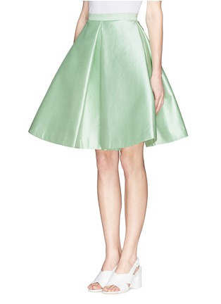 Front View - Click To Enlarge - Chictopia - Pleat flare silk skirt