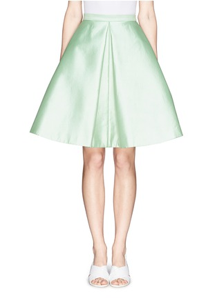 Main View - Click To Enlarge - Chictopia - Pleat flare silk skirt