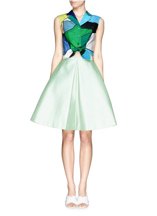 Figure View - Click To Enlarge - Chictopia - Pleat flare silk skirt