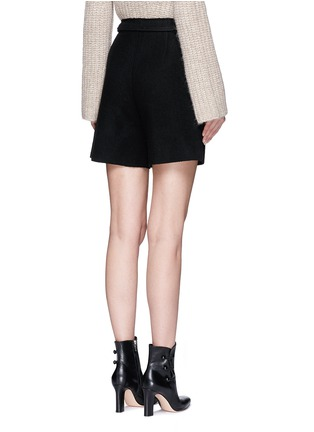 Back View - Click To Enlarge - MO&CO. EDITION 10 - Relaxed fit felt shorts