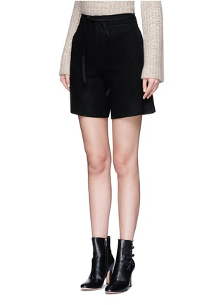 Front View - Click To Enlarge - MO&CO. EDITION 10 - Relaxed fit felt shorts