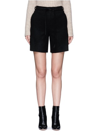 Main View - Click To Enlarge - MO&CO. EDITION 10 - Relaxed fit felt shorts