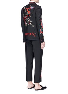 Gucci Dragon embroidered wool-mohair blazer