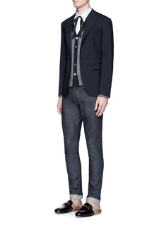 GucciPleated front club collar shirt