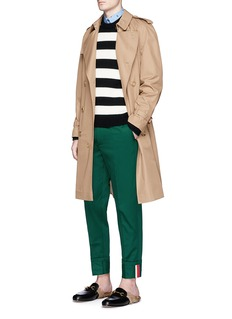 Gucci Stripe cuff cotton twill pants
