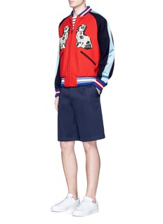 Gucci Pleated cotton drill shorts