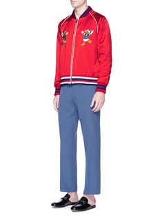 Gucci Donald Duck appliqué silk satin souvenir jacket