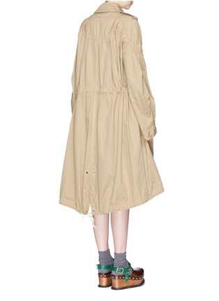 Back View - Click To Enlarge - Sacai - Overdyed cotton oversized trench coat parka