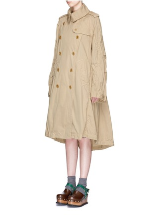 Front View - Click To Enlarge - Sacai - Overdyed cotton oversized trench coat parka