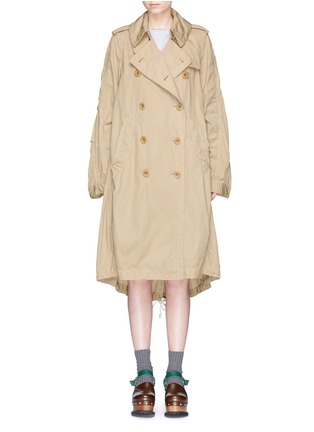 Main View - Click To Enlarge - Sacai - Overdyed cotton oversized trench coat parka
