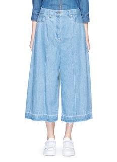 SACAI Let out Cuff Cotton Denim Culottes