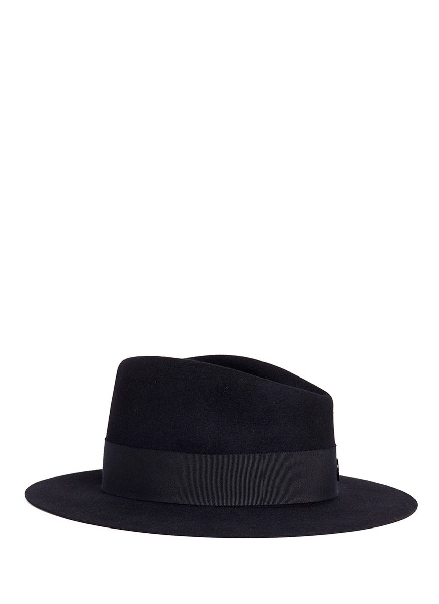 Andre rabbit furfelt trilby hat by Maison Michel