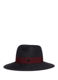 Maison Michel'Virginie' swirl rabbit furfelt fedora hat