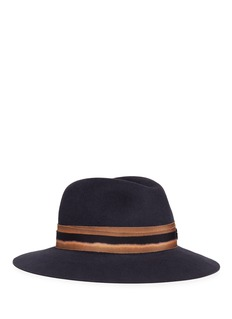 Maison Michel Henrietta' bleach effect band rabbit furfelt hat