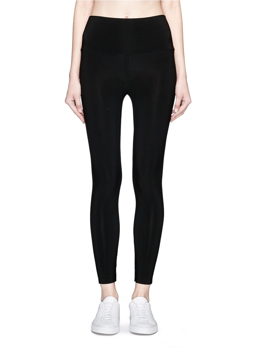 Stretch jersey cropped leggings by Norma Kamali