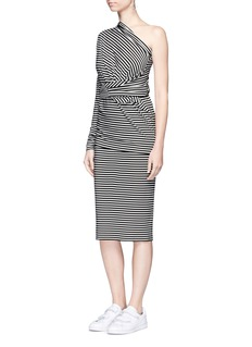 Norma Kamali'All in One Mini' stripe convertible jersey skirt top