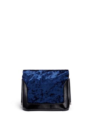 Detail View - Click To Enlarge - 3.1 Phillip Lim - 'Hana' crushed velvet flap chain shoulder bag