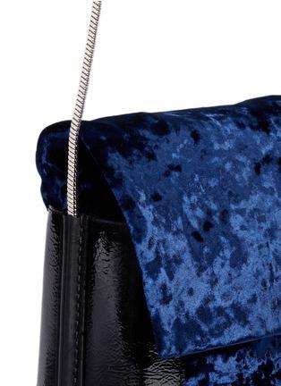 - 3.1 Phillip Lim - 'Hana' crushed velvet flap chain shoulder bag
