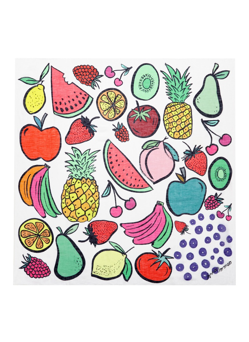 Mixed Fruit Sorbetto modal blend scarf by Anna Coroneo