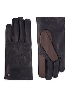 MEROLA GLOVES Cashmere lined leather short gloves