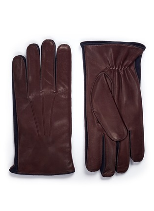 Main View - Click To Enlarge - MEROLA GLOVES - Cashmere lined leather short gloves