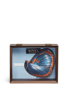 Novel 'Oleria Onega Crispinella' butterfly wing silk pocket square