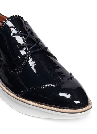 Detail View - Click To Enlarge - 10 Crosby Derek Lam - 'Grady' platform patent leather brogue Derbies