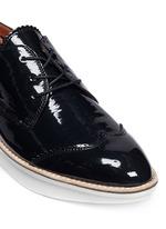 'Grady' platform patent leather brogue Derbies