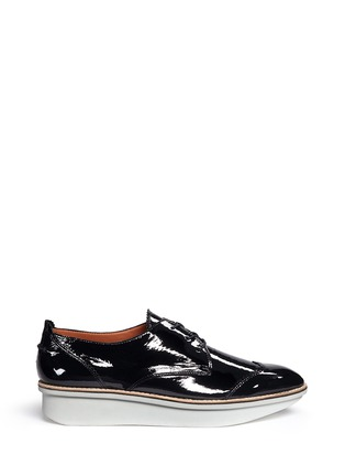 Main View - Click To Enlarge - 10 Crosby Derek Lam - 'Grady' platform patent leather brogue Derbies