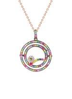 18k yellow gold gemstone rainbow charm - Promise