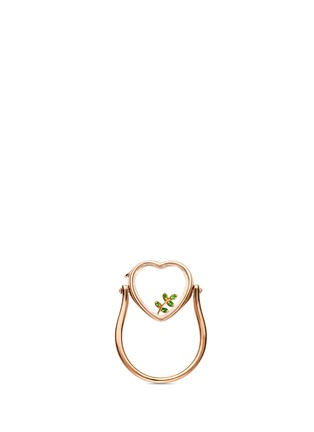 Figure View - Click To Enlarge - Loquet London - 18k yellow gold tsavorite olive branch charm - Peace