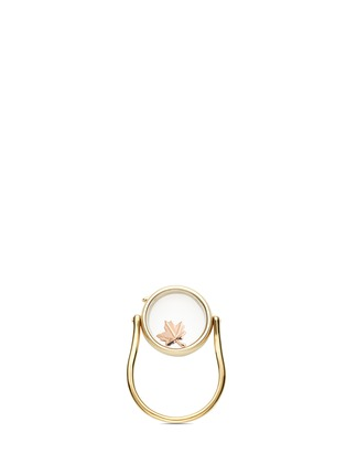 Figure View - Click To Enlarge - Loquet London - 18k rose gold maple leaf charm - Love