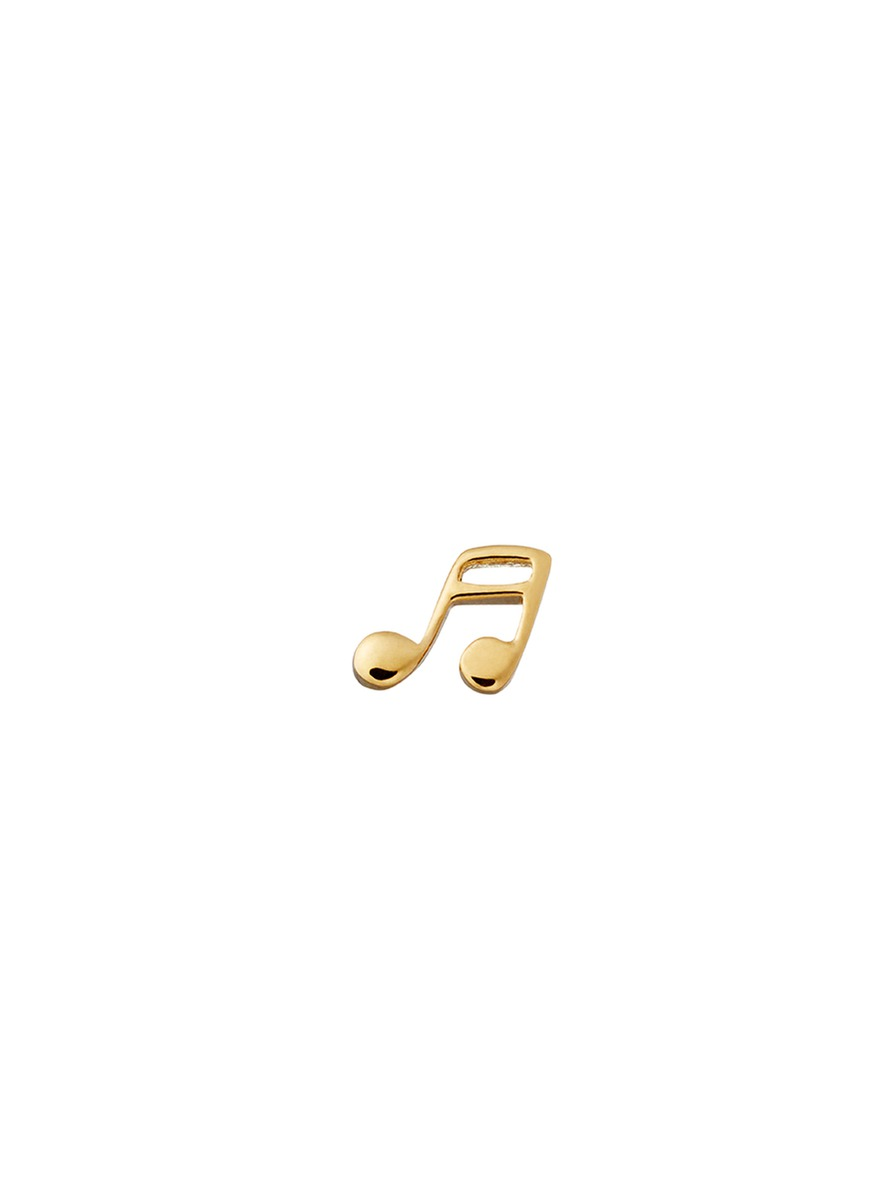 18k yellow gold music note charm - Timeless