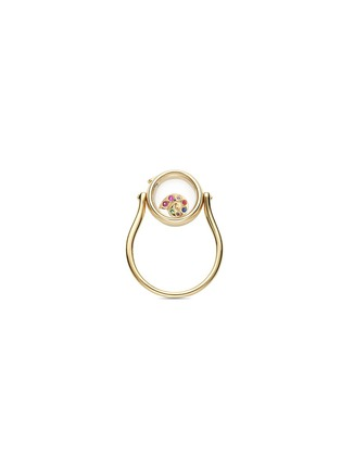 Figure View - Click To Enlarge - Loquet London - 14k yellow gold round locket ring - Small 12mm