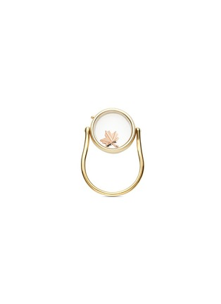 Figure View - Click To Enlarge - Loquet London - 14k yellow gold round locket ring - Medium 15mm