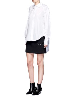 Jinnnn Ruffle trim cotton poplin shirt