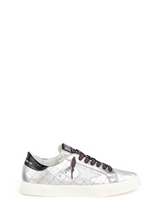 Golden Goose 'May' matelassé metallic faux leather sneakers