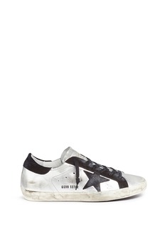 GOLDEN GOOSE 'Superstar' star patch metallic leather sneakers