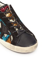 'Superstar' suede trim paillette sneakers